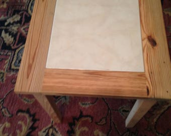 Hand Made Cypress End Table