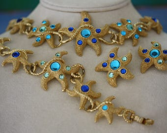 Stunning Vintage Starfish Parure from Trifari