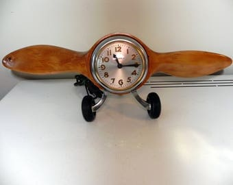 vintage Sessions airplane propeller electric clock