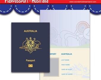 50% OFF Play Passport Australia - PDF JPG Instant Download Printable Digital File