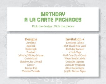Birthday A La Carte Packages