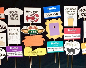 Friends TV Show themed Photo Booth Props