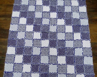Purple Rag Quilt Throw 50x60 Inches