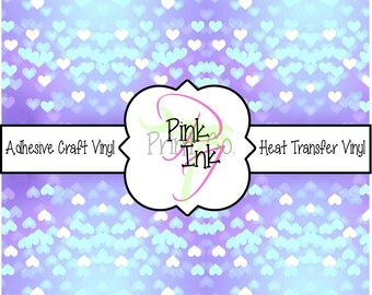 Valentine's Printed Vinyl, Heart Patterned Adhesive Vinyl and Heat Transfer Vinyl in pattern 1017