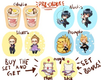 "PREORDER! Large 17""~ Chibi Final Fantasy 15 cushion pillow"