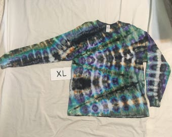XL Tie Dye Long Sleeve extra large ice dyed shirt
