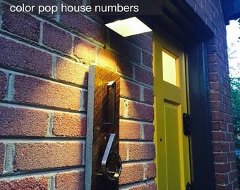 R U R A L   salvage Color Pop House Numbers