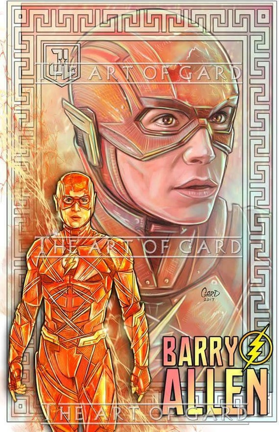 The Flash From Justice League Movie 11X17 Art Print