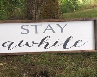 Stay Awhile, farmhouse style