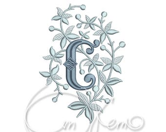 MACHINE EMBROIDERY DESIGN - Monogram letter C