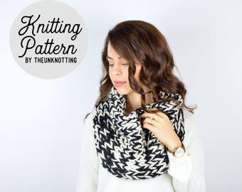 PATTERN // The Niota Cowl // Chunky Knit Cowl Scarf