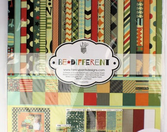 "Fancy Pants ""Be Different"" 12"" x 12"" Collection Kit and extras"