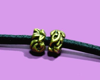 bronze 4 for cord 5mm beads