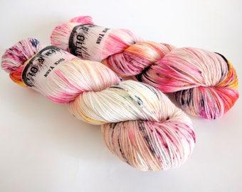 Sock Yarn Superwash Merino/Nylon 85/15 4ply Handdyed Yarn: LOLLY POP