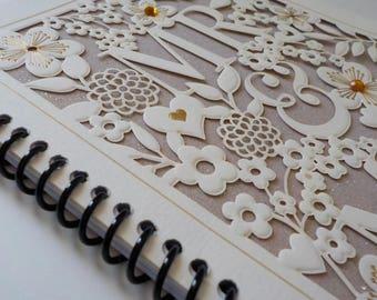 Wedding Card, 50 sheets, 5.5 x 8, Greeting Card Notebook, Wedding Notebook, Guest Book, Wedding Scrapbook, Wedding Journal, Wedding Album