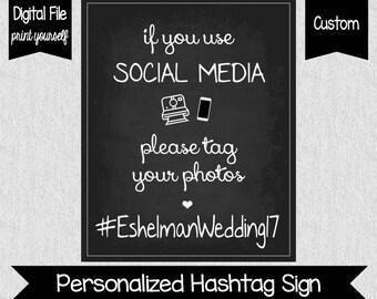 Wedding Hashtag Sign - Social Media Wedding Sign - Hashtag Sign- Hashtag Our Photos - Wedding Decor - Wedding Printables - Hashtag - Social