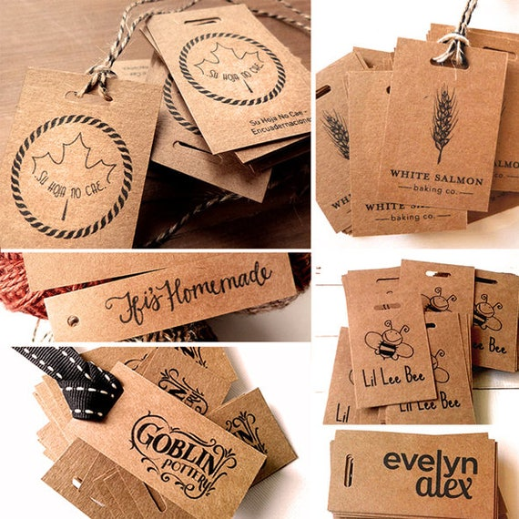 100 kraft tags custom hang tag favor tag personalized. Black Bedroom Furniture Sets. Home Design Ideas