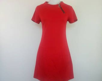 Vintage 1960s red mini dress  Size S