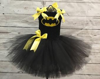 Batgirl Tutu Costume Batman Tutu Costume with black mask