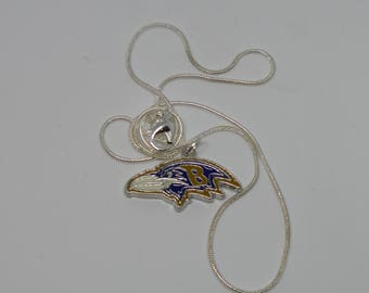 Baltimore Ravens Pendant with Snake Chain Necklace