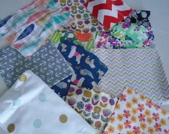 Bag of cotton fabric scraps, 4 oz