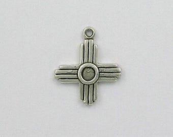 Sterling Silver Zia Sun Symbol Charm
