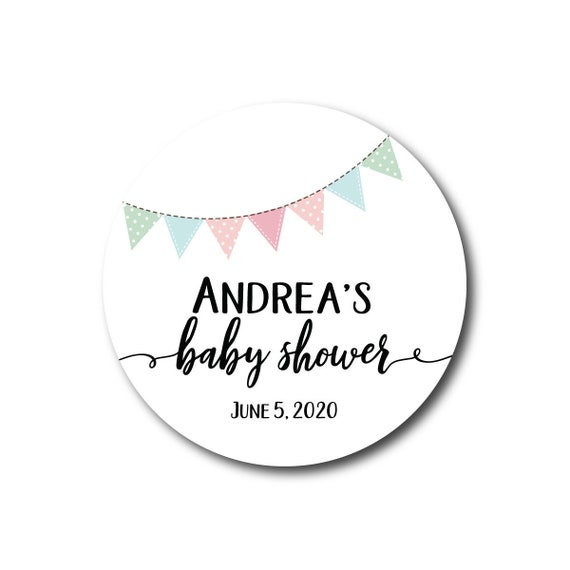 Baby Shower Stickers Baby Shower Favor Labels Shower Favors Thank