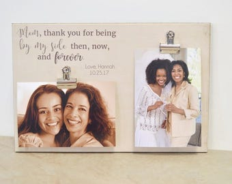 mother daughter photo frame mother of the bride gift personalized gift for mom - Mother Picture Frame