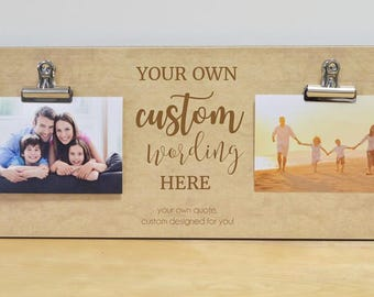Family Gift, Christmas Gift, Personalized Picture Frame - Custom Design Your Own Family Photo Frame With Your Personalized Quote Or Saying