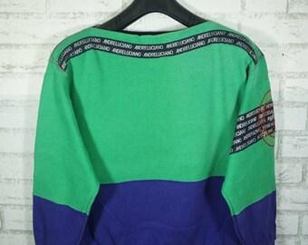 Vintage Andre Luciano Designer Multi Color Sweatshirt Size Large