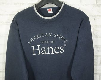 Vintage Hanes Spellout Logo Sweatshirt Size Large L / Hanes Sweater / Hanes Sweatshirt /