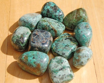Turquoise Crystal Tumblestone Tumbled Stone Crystal Therapy Reiki Wire Wrapping Jewellery