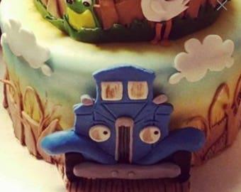 Little Blue Truck Cake Topper