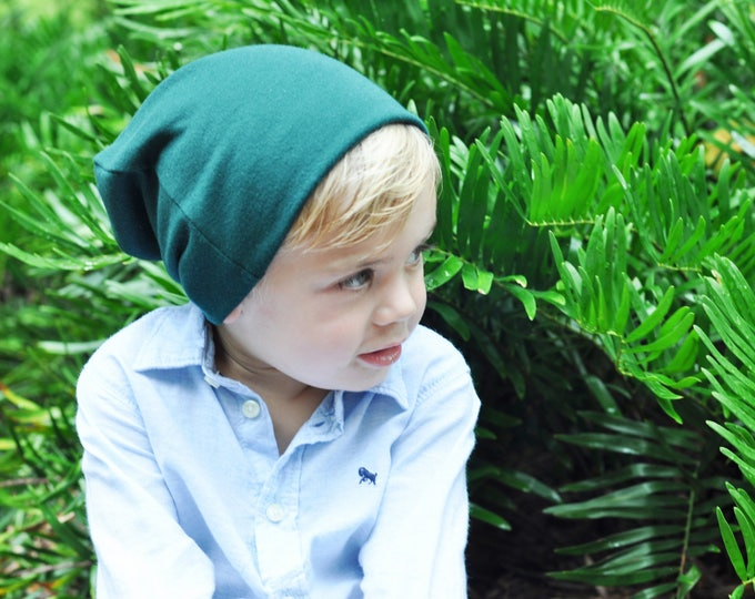 Forest Green Slouchy Toddler Beanie