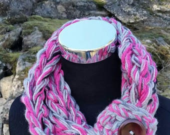 Scarf, FREE SHIPPING Womens, pink scarf, Girls adjustable scarf, Kids, Petite, Scarflette, Girls Pink scarf, accessories, Infinity Scarf