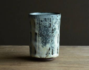 Square Yunomi - tea cup. Made from local native clay from The Dingle Peninsula.#218