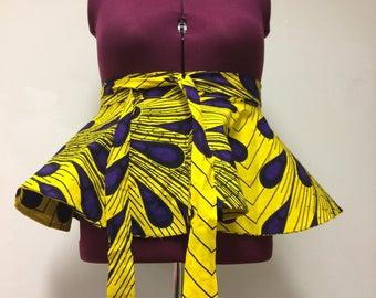 African print Peplum belt //plus size peplum belt //Ankara  peplum waist belt//Peplum belt//Detachable belt//winter fashion//peplum