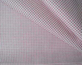 "Fat Quarter of Tone Finnanger Tilda Quilt Collection Fabric Mini-Gingham in Red. Approx. 18"" x 22"""