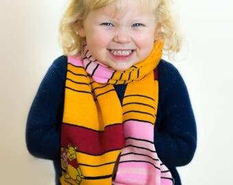 Winnie the Pooh, Winnie the Pooh Scarf, Piglet Scarf, Girls Scarf, Kidswear, School Scarf, Personalised Scarf, Accessories, 371