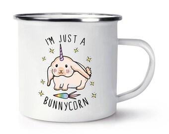 I'm Just A Bunnycorn Retro Enamel Mug Cup