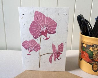 Lipperose Moth Orchid Card - Mother's Day - Valentine's Day - Plantable Seed Card - Grow Your Own - Wedding Invites - Vegan - Save the Date