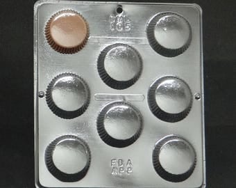 Large Peanut Butter Cup Candy Mold for Chocolate Candy Making 105