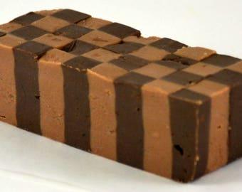 Double Chocolate Checkered Fudge - 1/4 lb