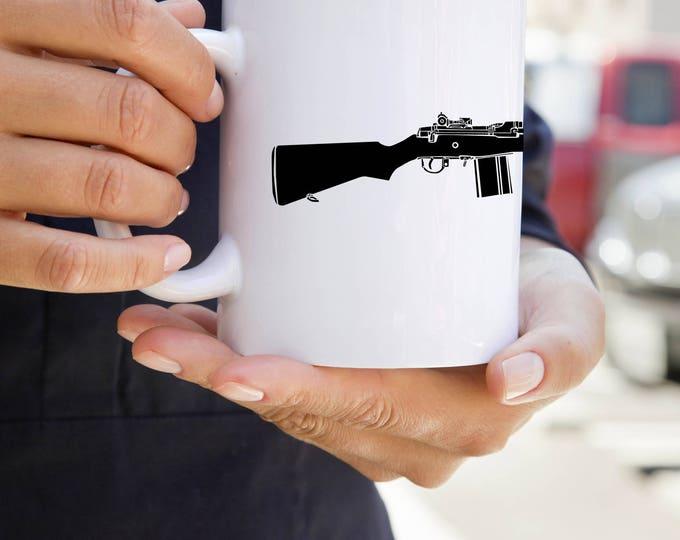 KillerBeeMoto:  U.S. Made M14 Rifle Print on Coffee Mug