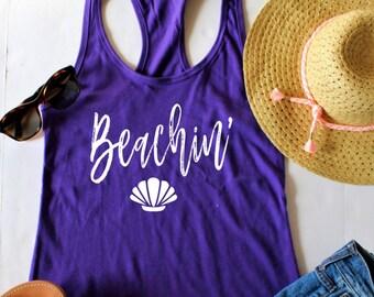 Beachin', Beach Tank, Beach Squad, Beach Trip, Beach Shirt, Vacation Shirt, Day Drinking, Beach Beach Beach, Beach Trip Shirts, Beach Tanks
