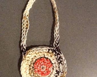 Crochet doll purse