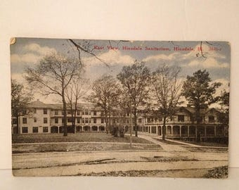 ON SALE 1917 Hinsdale Illinois IL Sanitarium Vintage Old Antique Postcard