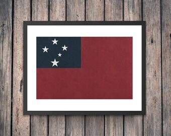 Samoa Flag Art Print