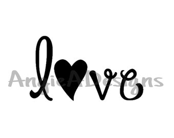 Love with Heart SVG