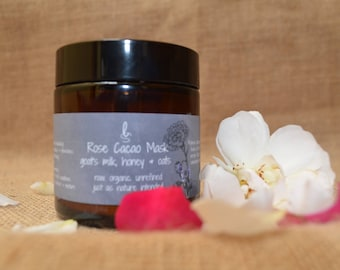 Rose Clay Mask | Face Mask  | Detox Mask | Goats Milk Mask | Cacao Mask | Acne Mask | Charcoal  | Oily Skin | European Skin Care | Pink Clay